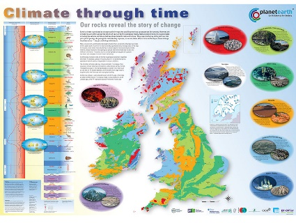 Become a rock detective! This useful free map shows the rocks of Britain and Ireland grouped according to the environment under which they were formed. The accompanying table explains how evidence for past climates can be found in the rocks around us.