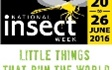 National Insect Week encourages people of all ages to learn more about insects. National Insect Week returns in 2018 at www.nationalinsectweek.co.uk